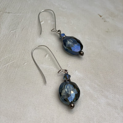 Lost & Found Blue Crystal Earring
