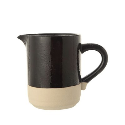 Creative Co-Op Round Matte Pitcher Black DF1178