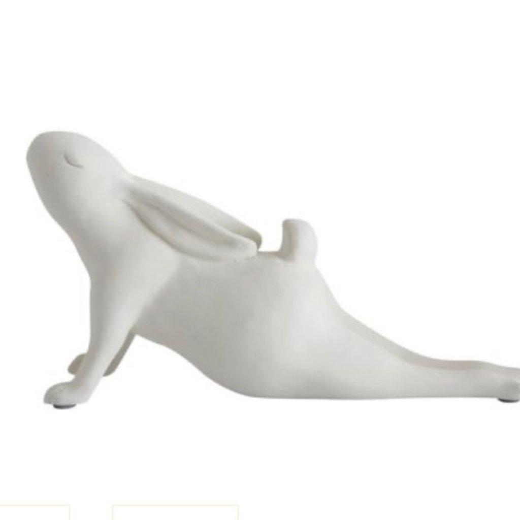 Creative Co-Op Arching Yoga Bunny