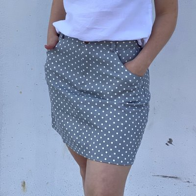 PAPERMOON Polka Dot Skirt Blue Gray