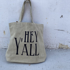 Creative Co-Op Canvas Tote Bag Southern Sayings
