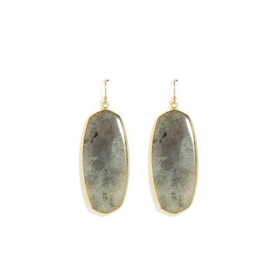 Splendid Iris Grey Stone Earring
