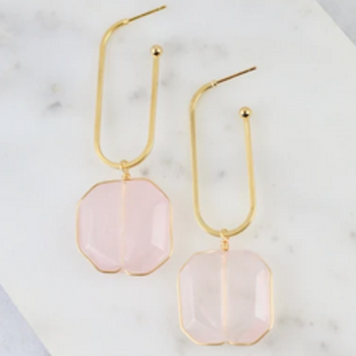 Caroline Hill Rose Quartz Earring