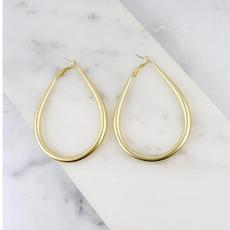 Caroline Hill Teardrop Hoop Earring Gold