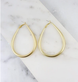 Caroline Hill Teardrop Hoop Earring Gold