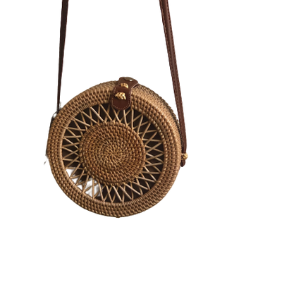 Caroline Hill Round Crossbody Straw Purse