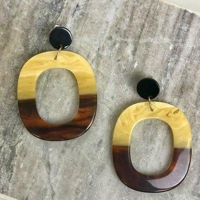 Caroline Hill Oval Colorblock Earring