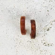 Smokey Orange Hoop Earring