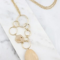 Caroline Hill Wooden Pendant Necklace