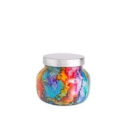 Capri Blue Volcano  Rainbow Watercolor Petite Jar