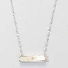 Kenze Panne, Inc Mother of Pearl Bar Necklace