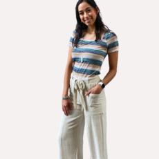 Hyfv Oatmeal Linen Pants