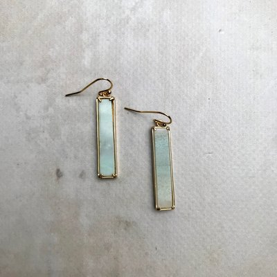 Kenze Panne, Inc Blue Bar Earring