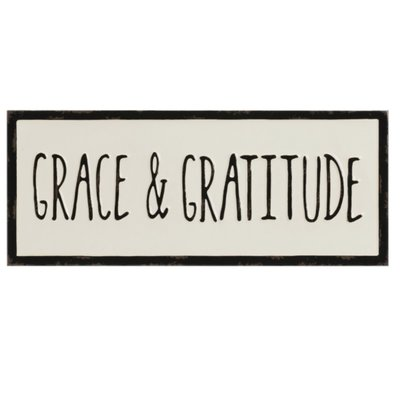 "Creative Co-Op Wall Decor ""Grace and Gratitude"""