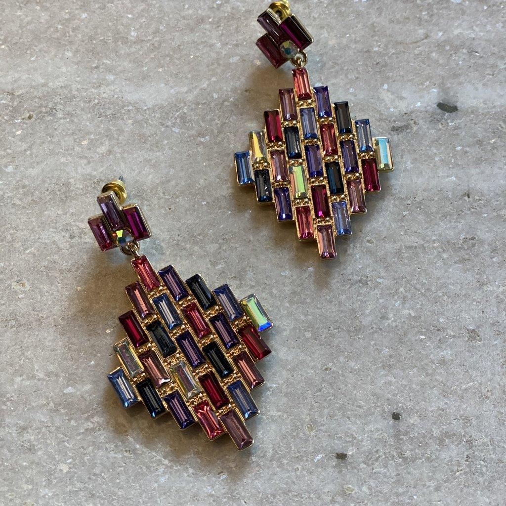 Splendid Iris Kaleidoscope Earrings