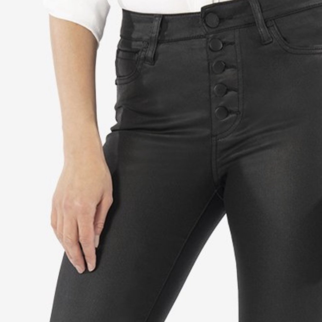 Kut from the Kloth Mia High Rise Skinny Button Fly-  Black