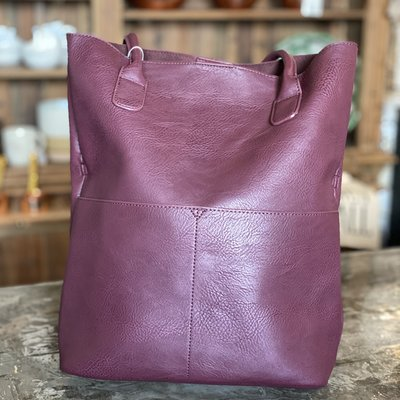 Joy Susan Burgundy Kelly N/S Front Pocket Tote