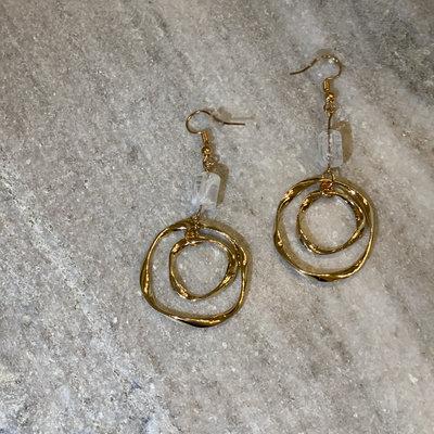 Beaded Twist Hoop Earrings