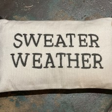 Creative Co-Op Sweater Weather Pillow Grey and Cream