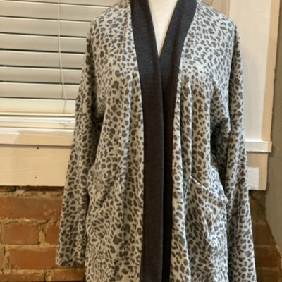 143 Story Leopard Lounge Robe
