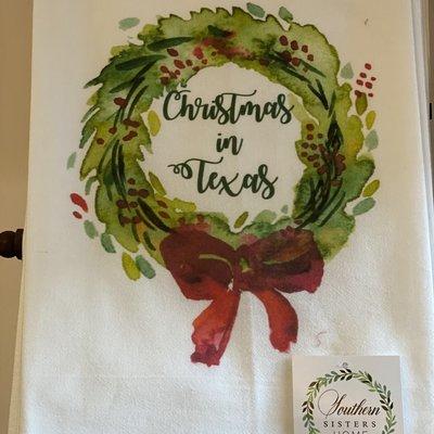 Southern Sisters Entersprises Christmas in Texas Tea Towel
