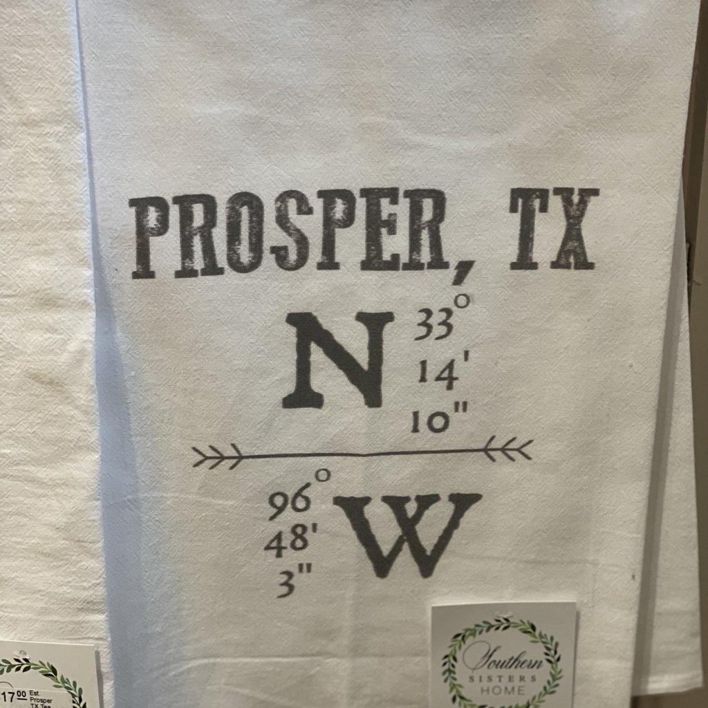 Southern Sisters Entersprises Hometown Tea Towel Prosper