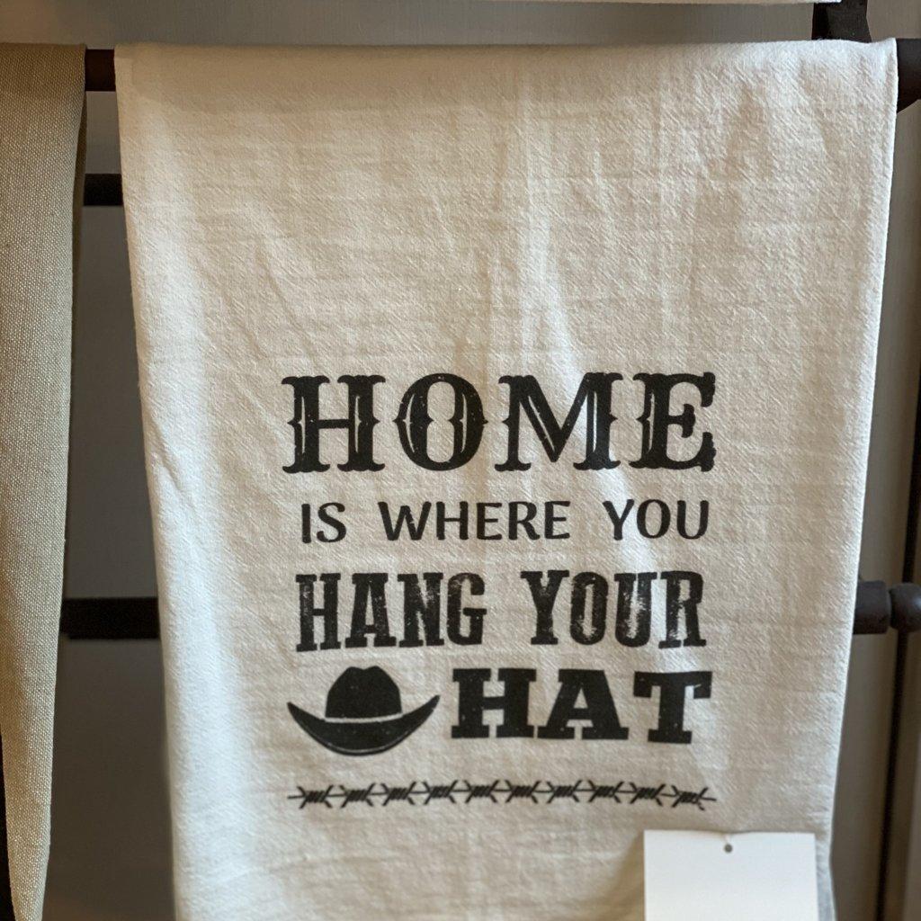 Southern Sisters Entersprises Home Hang Your Hat Tea Towel