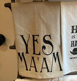 "Creative Co-Op 28x18"" Southern Saying Tea Towel"