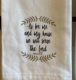The Royal Standard Josh 24:15 Tea Towel