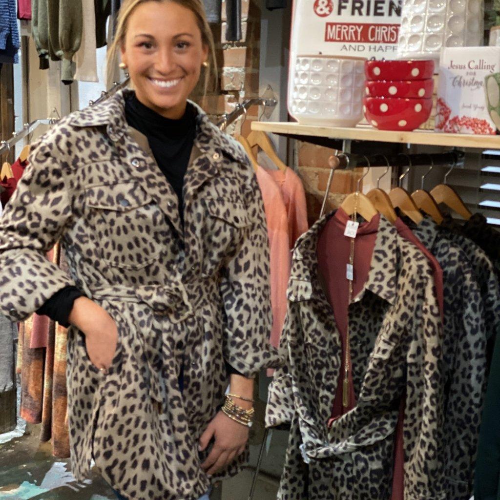 Hyfve Leopard  Belted Jacket