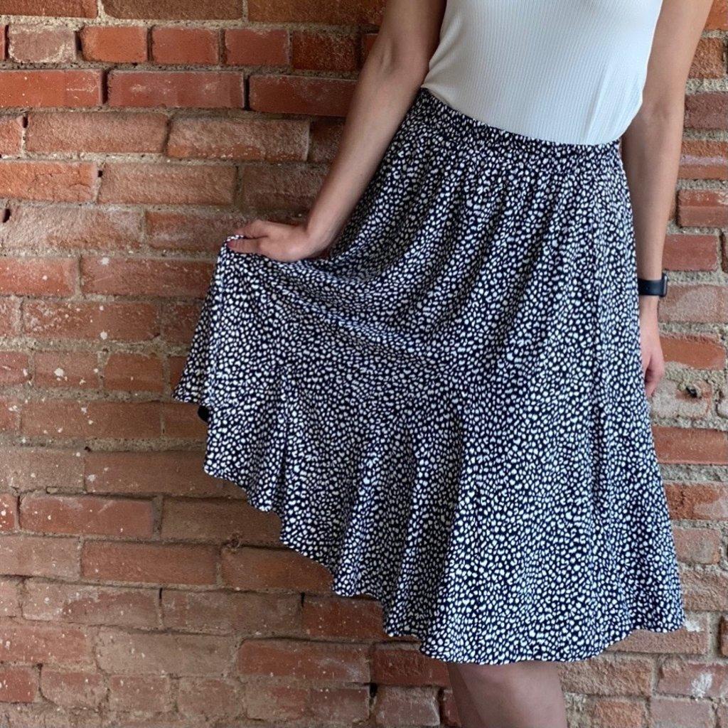 Doe & Rae Black & White Skirt