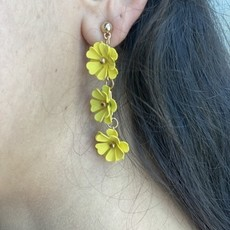 WHAT'S HOT JEWELRY Yellow Drop Flower Earring