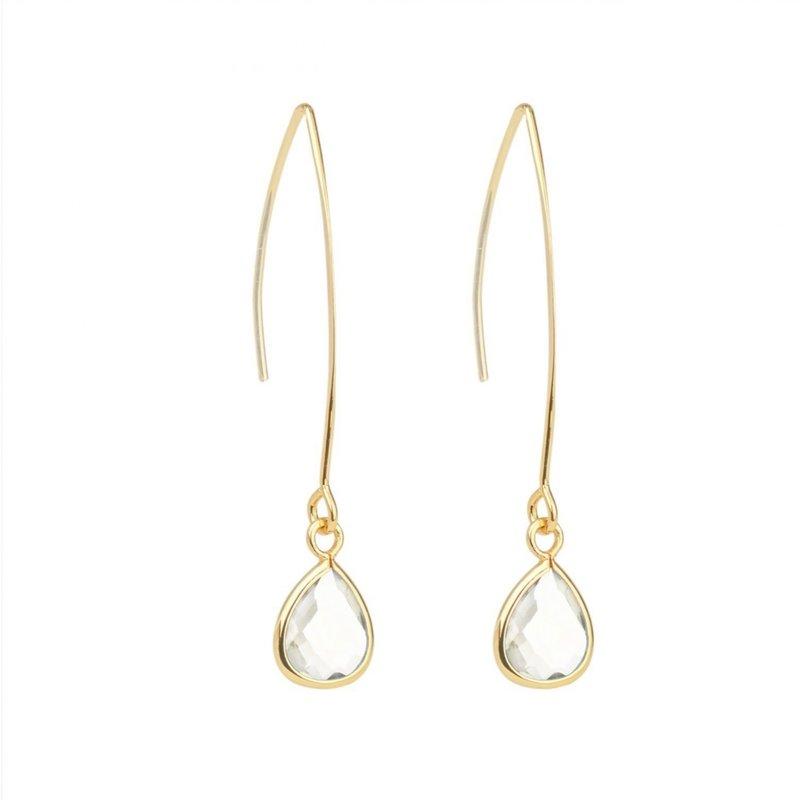 Splendid Iris Beveled Crystal Earring