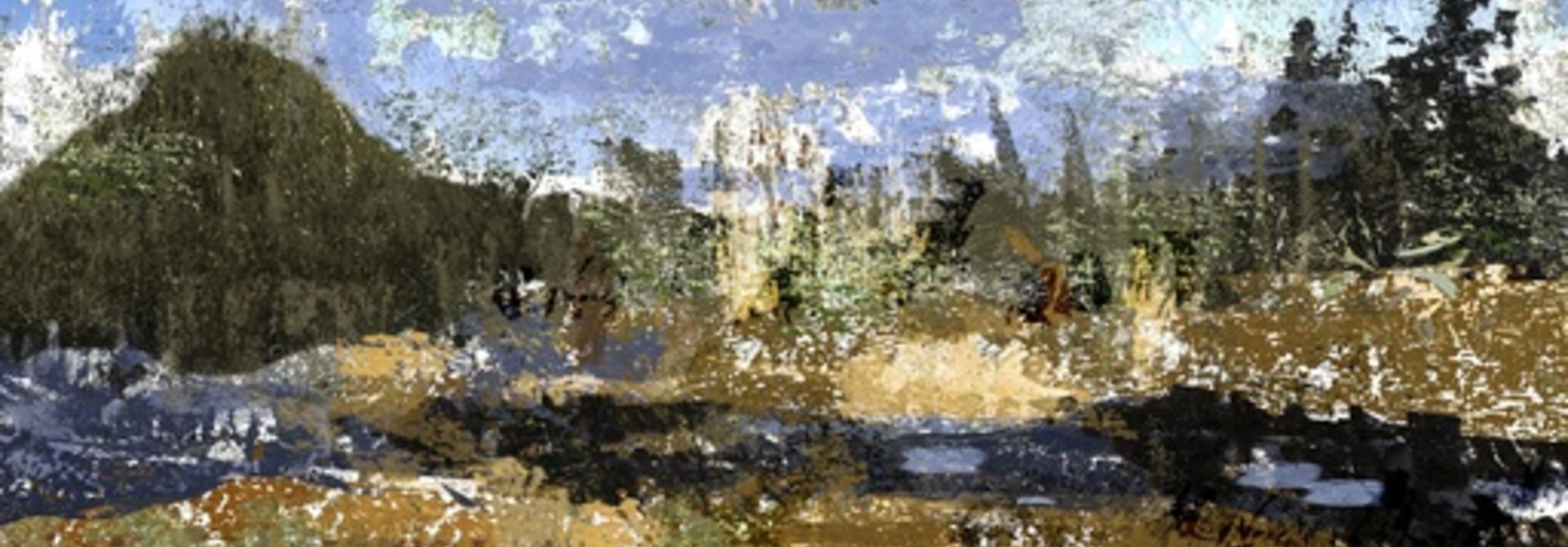 Passing By (After Cezanne)