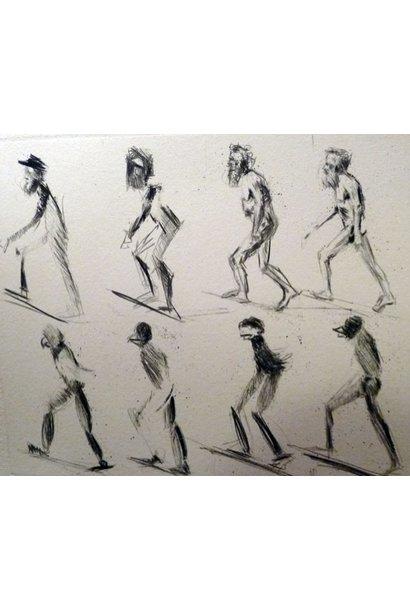 Muybridge Walks Up Incline Turns Into Bird Man