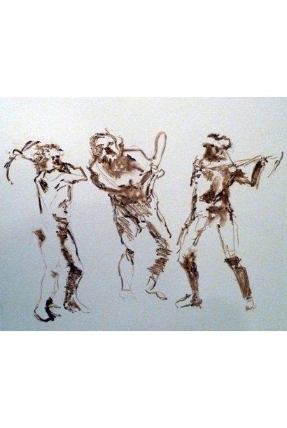 Muybridge Swings Pick Axe Brown 3 Figures