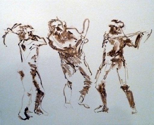 Muybridge Swings Pick Axe Brown 3 Figures-1