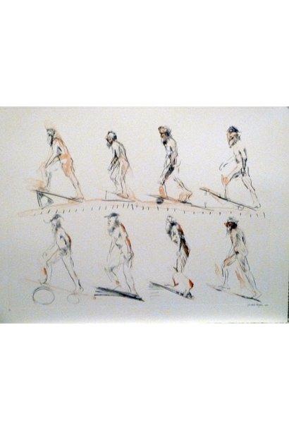 Muybridge Walks Up Incline