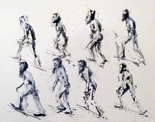 Muybridge Walks Up Incline Small Blue 8 Figures-1