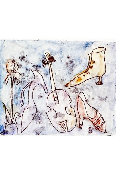 Untitled (shoes, flower, instrument)
