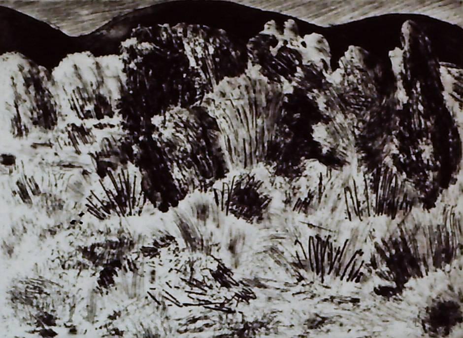 Scene with Grasses-1