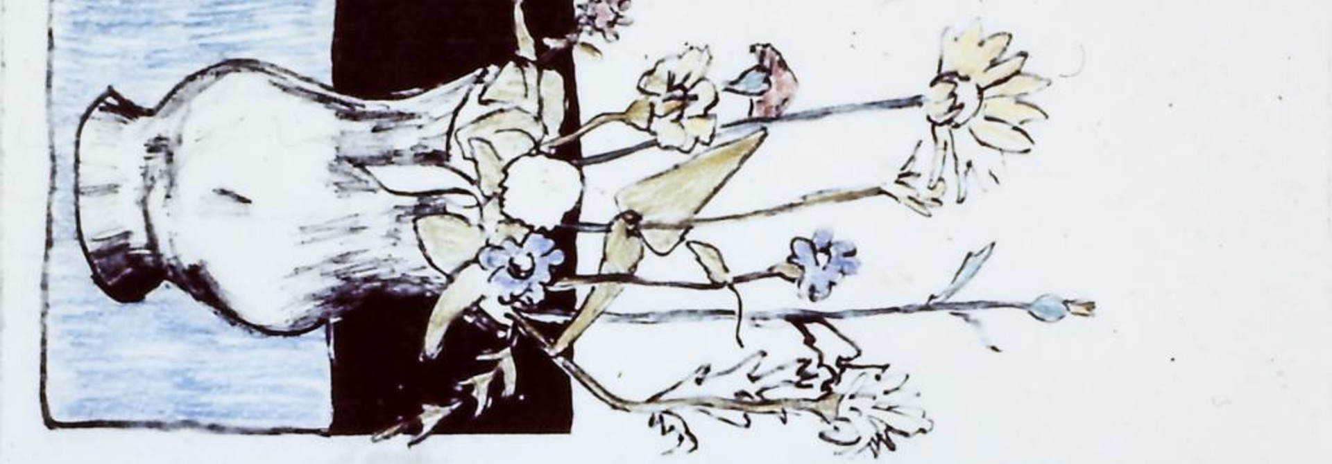 Untitled (flowers, hand-coloured)