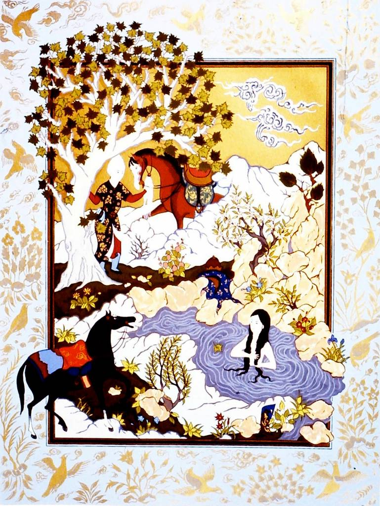 Shirin Bathing (from the story of khusraw and Shirin)-1