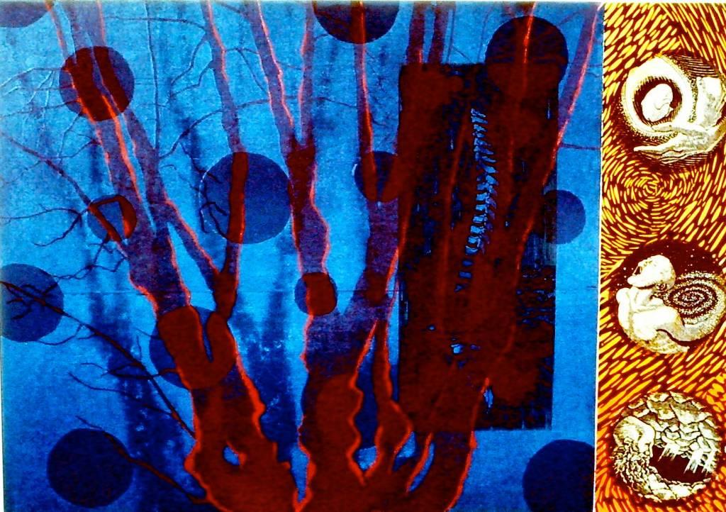 Blue Tree and Circles-1