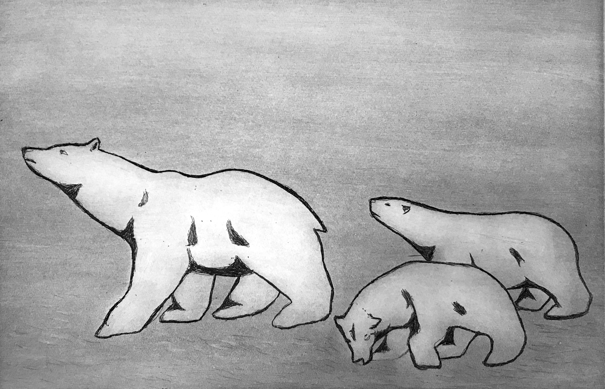 Bear with Cubs (Kimirut)-1