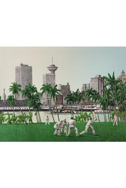 Cricket in Lotusland (framed)