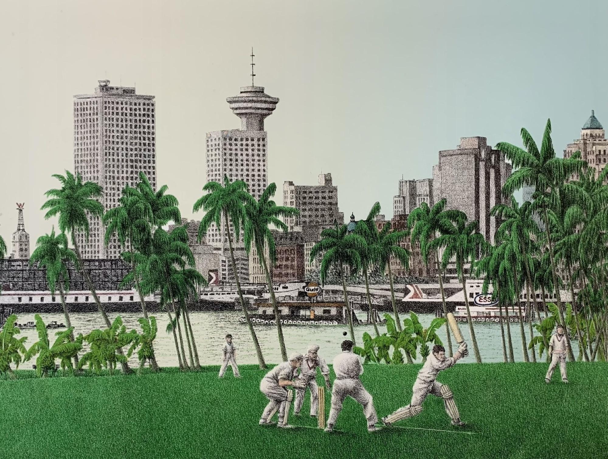 Cricket in Lotusland (framed)-1