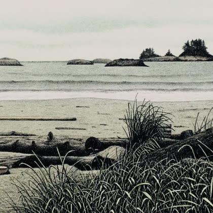 Panorama - Calvert Island (framed)-1