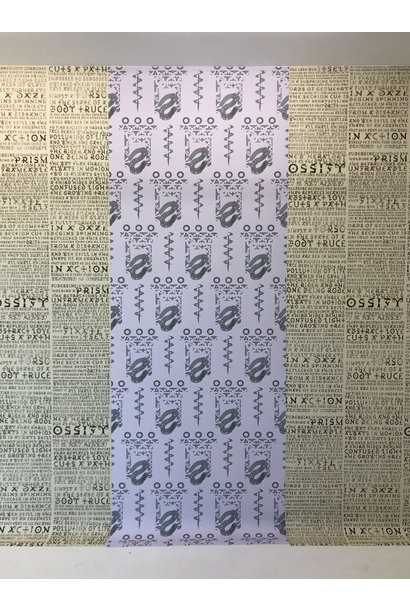 Psychic entablature V2 (adhesive fabric)