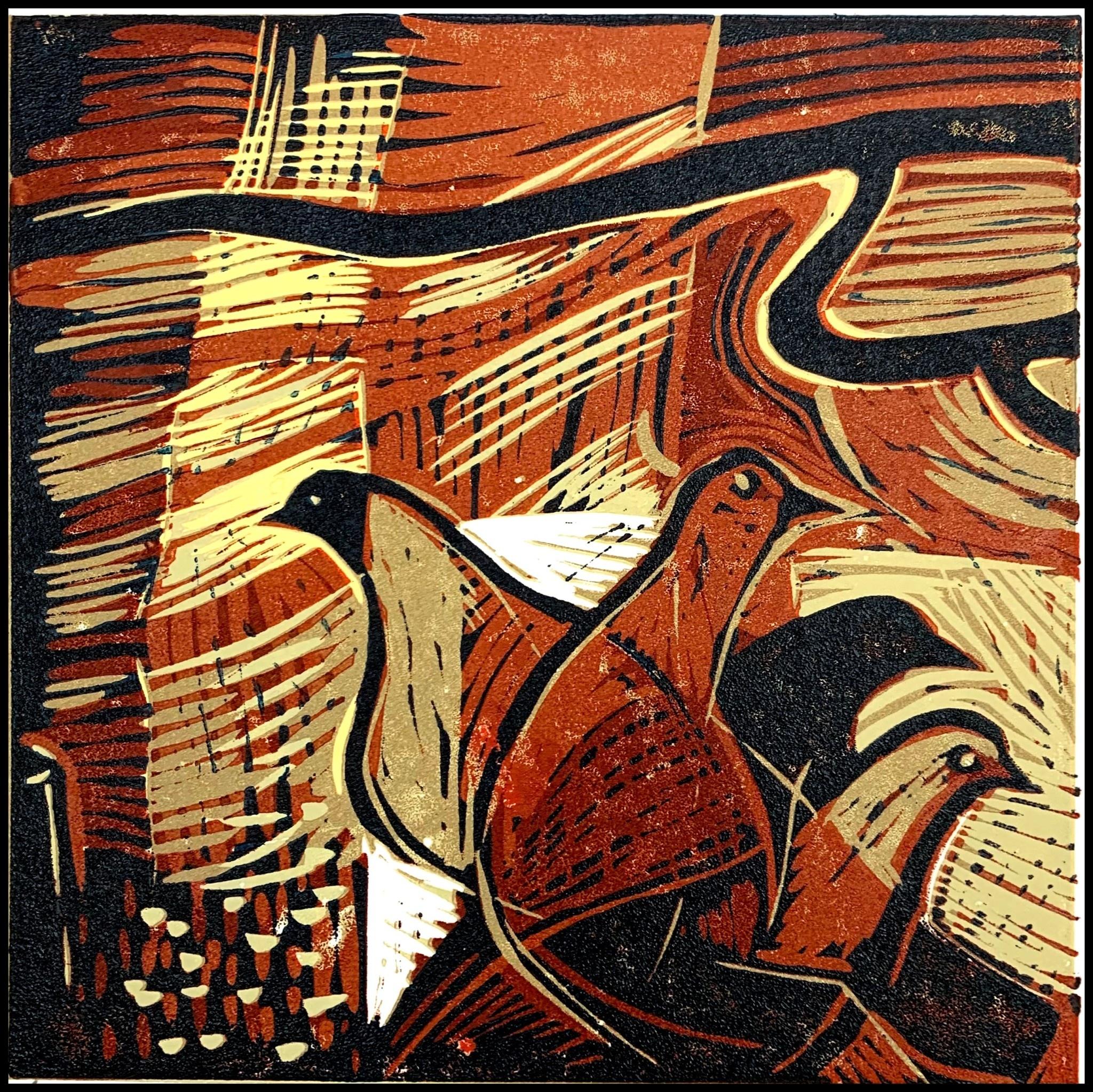 Venice-Pigeons (framed)-1